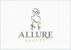 Logo for sale: Soft and calm female beauty logo that features a beautiful and natural woman with the woman's body designed with flowing natural leafy vines that create this beauty and spa-like logo design.