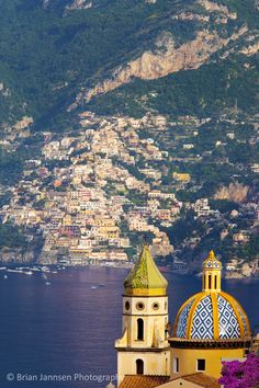 Chiesa San Gennaro in Praiano with Positano beyond, Amalfi Coast, Campania Italy. © Brian Jannsen Photography