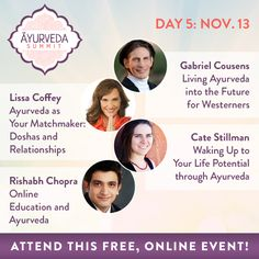 27 Ayurveda experts to help you evolve on your wellness path and spiritual journey! Listen to the best teachers of this ancient healing wisdom, from East and West, at The Ayurveda Summit, November 9-16.