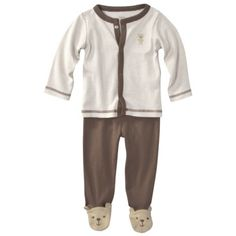 Precious Firsts  Made by Carters ® Newborn Boys' 2 Piece Cardigan Set - Brown