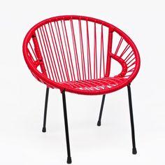 Chaise Enfant Tica - Rouge  #kids retro design chair