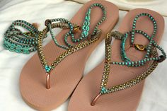 A personal favorite from my Etsy shop https://www.etsy.com/il-en/listing/525070787/flip-flops-bohemian-sandals-rose-gold
