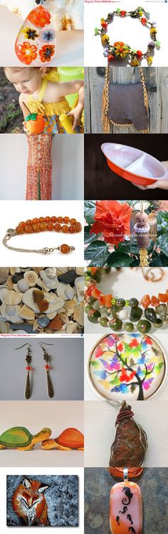 Orange Burst  by lunaessence on Etsy #handmade #lacwe #accessories #jewelry #clothing #décor #vintage