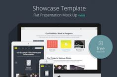 Volume 2 of our psd responsive flat showcase series with different devices and layout to let you  display any responsive...