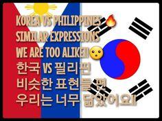 Korea vs Philippines🔥- Similar expressions-We are too alike!!한국 vs필리핀!!비...