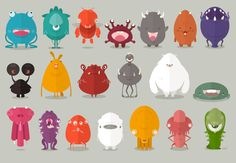 Munch Monsters by buatoom, via Behance