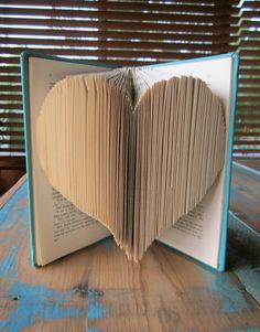 I heart books and books heart me.  (Folded Heart Book by Novel Brand)