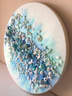 Sea Crafts, Sea Glass Crafts, Diy Resin Crafts, Sea Glass Art, Painted Driftwood, Painted Shells, Seashell Art, Seashell Crafts, Deco Marine