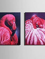 Canvas Set Eläin European Style,2 paneeli Kanvas Pystysuora Tulosta Art Wall Decor For Kodinsisustus