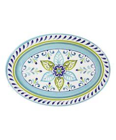 Look at this #zulilyfind! Oceanside Tile Oval Serving Platter #zulilyfinds
