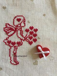 Supreme Best Stitches In Embroidery Ideas. Spectacular Best Stitches In Embroidery Ideas. Stitch Crochet, Crochet Cross, Cross Stitch Embroidery, Embroidery Patterns, Hand Embroidery, Cross Stitch Designs, Cross Stitch Patterns, Cross Stitch Angels, Running Stitch