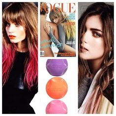 To #getthelook of #ItGirl Model #AbbeyLee without the full dye commitment the @Love Kevin Murphy #colorbug gives you that instant flash of #colour! You can go for full blown look or just a hint, & it wipes on, wipes off!