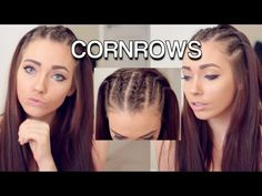 Corn Rows Hair Tutorial ft. Shybexa Hair Extensions - YouTube