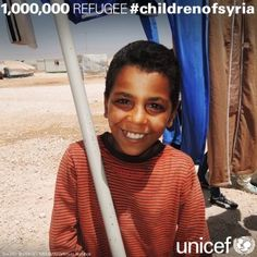 UNICEF's Syrian children page. There are one million refugees now & counting. #childrenofsyria