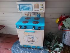 American Greetings Holly Hobbie Kitchen Stove  Cupboard Play Set Vintage 1979 /Not Included in Coupon Sale /New Listing by Daysgonebytreasures on Etsy
