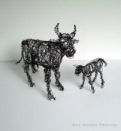 unique wire animals