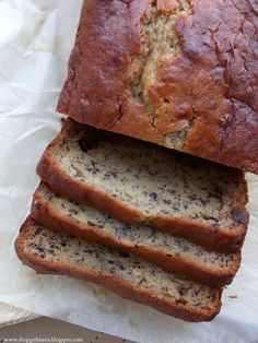 Chocolate Chip Banana Bread with Greek Yogurt: I did this with an extra banana, walnuts, and baking powder instead of soda. Most amazing banana bread ever.
