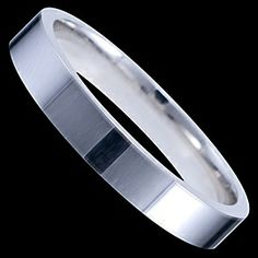 Silver ring, wedding ring Silver ring, Ag 925/1000 - sterling silver. Classical wedding ring. Extraordinary and special workmanship! Ring is by computer-controlled machine turned from silver tube (this type of treatment is unique in the world because of extremely high price of machine). Incredibly perfect workmanship. Square edges. Wedding ring width aprox. 3mm.