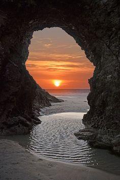 Perranporth, Cornwall, England. By Megan Dykes.                                                                                                                                                                                 More