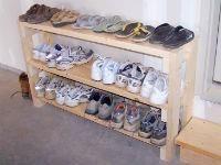 Самодельная подставка под обувь