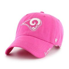 61c6d2504fbcd Los Angeles Rams Women s 47 Brand Pink Clean Up Hat Los Angeles Rams Hat
