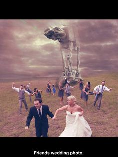 Another fun idea for wedding photography.
