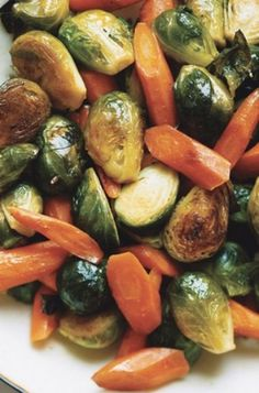 Carrots and Brussels Sprouts #brusselssproutsrecipe #glutenfree #vegetable #vegetarian #winterrecipe