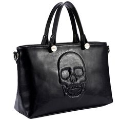 Mechaly Women's Skully Vegan Leather Skull Handbag - $49.99. https://www.tanga.com/deals/a37a73a5eeb5/mechaly-women-s-skully-vegan-leather-skull-handbag