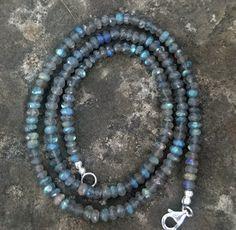 Handmade 20 Inch AAA Blue Flash Labradorite by EurekaSpringsRocks