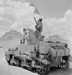Tanque ligero Stuart en las filas de la 7th Armoured Division en las proximidades de Qaret el Himeimat.