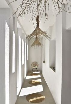 A relaxing holiday home in Tunisia - Home Design & Interior Ideas Interior Design Kitchen, Interior And Exterior, Interior Decorating, Beton Design, Natural Interior, Nature Decor, Rustic Chic, Natural Living, Interior Inspiration