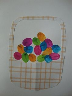 Thumbprint Easter Eggs Kids Crafts