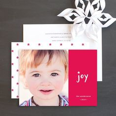 Modern Joy Holiday Photo Cards by Olivia Raufman Wedding Stationery, Wedding Invitations, Joy Holiday, Christmas Photo Cards, Cool Patterns, Bold Colors, Save The Date, Frame, Modern