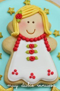 """"""" MUY DULCE """" MARIAPI Y MERCEDES GARCIA DE VINUESA GALLETAS DECORADAS: Snowball de Navidad !!!!"""