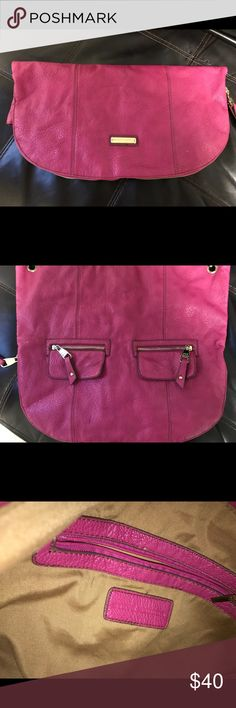 "Steve Madden Hot Pink Tote Steve Madden Hot Pink Faux Leather Convertible Tote Purse Bag   16 1/2"" High & 18"" Wide  ·       Rose Pink Faux Leather Exterior  ·       Magnetic Closure  ·       Gold Accents  ·       Bottom Zipper for Expansion  ·       Large Interior with on Zipper Compartment and 2 Quick Access Pockets Steve Madden Bags Totes"
