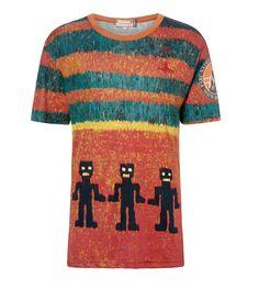 Multicolour Print Ikat T-Shirt #AW1516