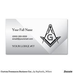 Black And Silver Masonic Business Card Template Custom Masonic