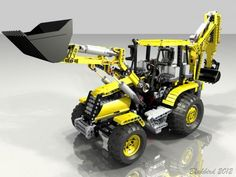 LEGO Set MOC-0247 - Fully PF-Backhoe Loader