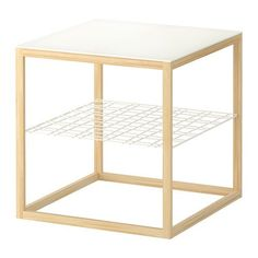 IKEA - IKEA PS Side table, , Separate shelf for magazines, etc. helps you keep your things organised and the table top clear.Designed to look good when used alone, or together with IKEA PS side table with bowl and IKEA PS side table with 4 bowls. Copper Side Table, Ikea Side Table, Console Ikea, Ikea Ps 2012, Style Me Pretty Living, Diy Home, Home Decor, Diy Casa, Ikea Home