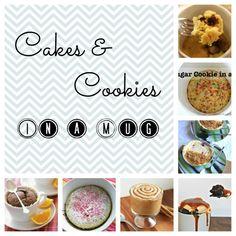 Flykid Me!: Cakes and Cookies in a Mug Mug Recipes, Easy Cake Recipes, Yummy Recipes, Yummy Treats, Sweet Treats, Yummy Food, Cake Cookies, Cupcake Cakes, Cupcakes