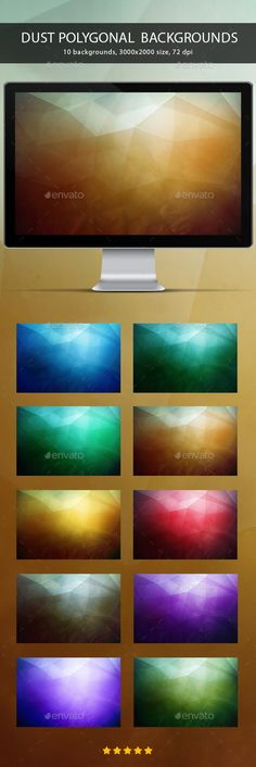 Dust Polygonal Backgrounds by M-e-f Dust Polygonal Backgroundsnice design, modern looking, good for using at the web, apps, presentations, print templates, flyers and