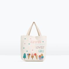 ZARA - NEW IN - ICE CREAM PRINT BAG