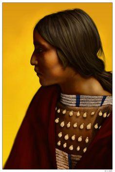 Uhisati Waya Adanvdo by wendelin on DeviantArt Native American Women, American Indian Art, Native American Indians, Cherokee Indians, Native Indian, Native Art, Fat Horse, Native Humor, Face Profile