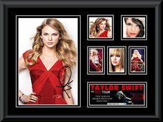 "Taylor Swift ""Red Tour"" LE montage mat is fully framed Taylor Swift Red Tour, Long Live Taylor Swift, Love Lauren, Playing Piano, Selena Gomez, My Music, Singer, Celebrities, Collaboration"