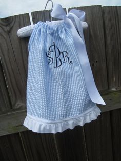 Blue and White Seersucker Pillowcase Dress by PillowcaseProject, $24.99