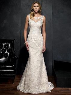 Click to Buy    Viman s Bridal 2015 Lace Mermaid Wedding Dresses Scoop Court 53a9675e9d9f