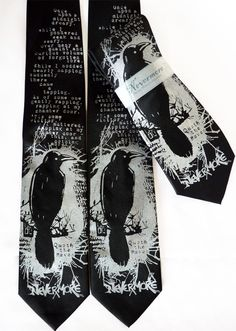 Nevermore Raven Tie - Poe Bird Men's Necktie - Gifts for Men. $24.00, via Etsy.  If you're gonna give him a tie, at least make it a unique one.  This would be great for English professors and actors.