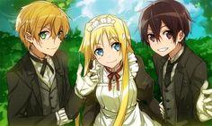 Alice,Eugeo y Kirito