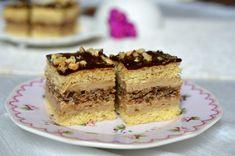 Prajitura Eszter Hazi cu ness Sweets Recipes, Cake Recipes, Romanian Desserts, Something Sweet, Tiramisu, Sweet Treats, Cheesecake, Food And Drink, Healthy