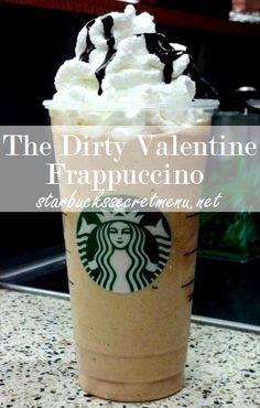 The (Dirty) Valentine Frappuccino. #StarbucksSecretMenu Try it this Valentine's Day, or any day of the year!  Recipe here: http://starbuckssecretmenu.net/the-dirty-valentine-frappuccino-starbucks-secret-menu/